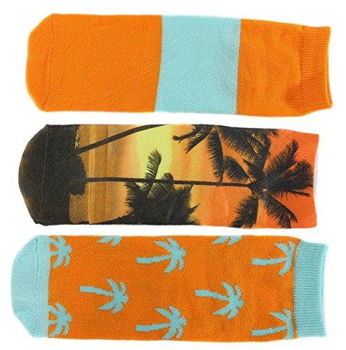 ecko-rojo-impresiones-de-fantasia-para-mujer-corte-bajo-maletero-calcetines-3-pack-multicolor-palm-t