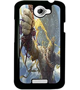 ColourCraft Lord Shiva Design Back Case Cover for HTC ONE X