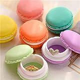 SHOP-STORY - Pack de 6 Boites de Rangement Piluliers en Forme de Macaron pour Ranger Les Petits Bijoux, Carte SD SIM, des Pilules ou Les Petits Secrets