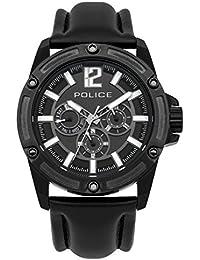 Police PL.93778AEU/02 - Reloj de cuarzo para hombres con esfera negra y