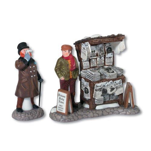 Department 56 Dickens' Village London Zeitungsständer Zubehör-Figur, 2 Stück -