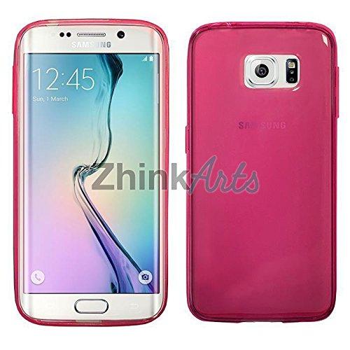 ZhinkArts TPU Case Silikon für Apple & Samsung Hülle Tasche Bumper Cover Schutz IPhone 6+/ 6S+ Transparent Pink/ Rosa