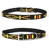 Strapazierfähiges Nylon Hunde Halsband Native Look große Hunderassen L XL XXL bunt schwarz XS