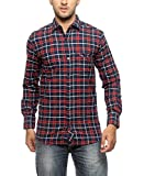Groove Men Cotton Red Casual Shirt (XX-L...