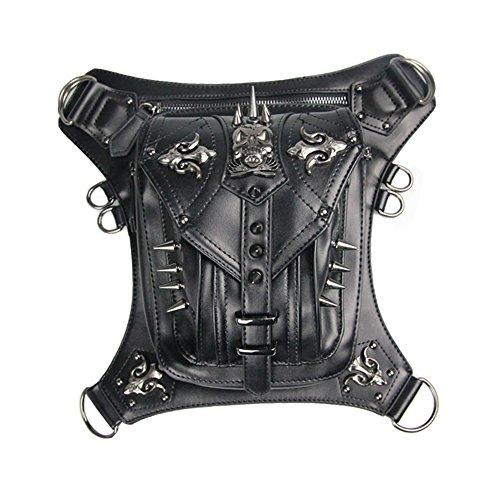 Steelmaster Gothic Unisex Steampunk Schulter Crossbody Tasche Kleine  Brieftasche Outdoor Mini Waist Packs