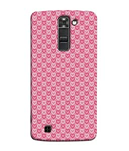 Fuson Designer Back Case Cover for LG K7 :: LG K7 Dual SIM :: LG K7 X210 X210DS MS330 :: LG Tribute 5 LS675 (Hearts Spades Coffee Red Love )