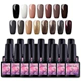 Saint-Acior 15pc UV Nagellack Nail Gel Polish Set Gelnägel Farbgel Nagelgel(15x8ml),Y1501