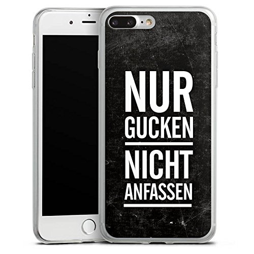 Apple iPhone X Slim Case Silikon Hülle Schutzhülle Sprüche Statement Spruch Silikon Slim Case transparent