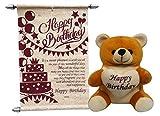 Happy Birthday Soft Teddy With Birthday ...