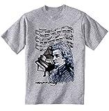 Photo de TEESQUARE1st Men's Wolfgang Amadeus Mozart Grey T-Shirt par TEESQUARE1st