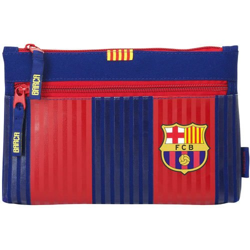 FC Barcelona First Team pencil case  with double zipper  23  x 16  x 3  cm  Safta 811629033