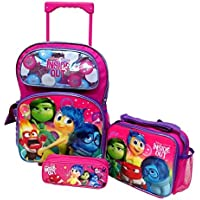 Preisvergleich für Inside Out Disney Pixar Large 16 Rolling Backpack Roller Book Bag, Lunch Box & Pencil Pouch by Bag2School