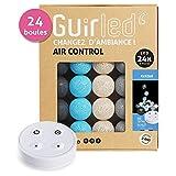 Guirlande lumineuse boules coton LED USB - Télécommande sans fil - Chargeur double USB 2A inclus - 4 intensités - 24 boules - Avatar