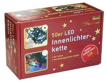 Idena 8325054 Led- Lichterkette 50-er innen warm weiss