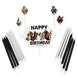 Amscan 9903084 International Star Wars Geburtstags-Kerzen-Set, 17-teilig