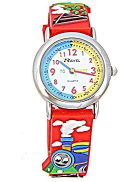 Ravel R1513.62–Uhr für Kinder, Gummi-Armband Rot