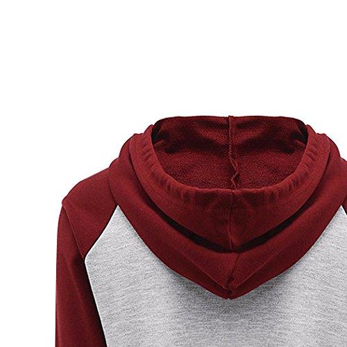 Sunnorn Mode Hiver Lettres ImpriméEs Sweat à Capuche Manche Longue Midriff Nu Couleur De Contraste éPissage Sweatshirts Gris