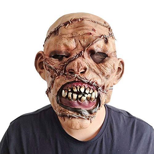 Monster Kostüm Mann - FUSHANG Halloween Maske Latex Gummi Horror Alten Mann Gesicht Monster Kostüm voller Kopf für Erwachsene Cosplay Party Festivals Dekorationen