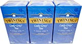 Twinings of London Lady Grey 3 x 25 Teebeutel Aromatisierter Schwarztee