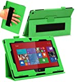 Navitech Custodia /Cover Stand Verde in Ecopelle per Nokia Lumia 2520 10.1 Windows Tablet