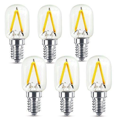 Glühbirne Birnenlampe 6x Licht Glühlampe 1.5W 220V E14S T22x58 2300K