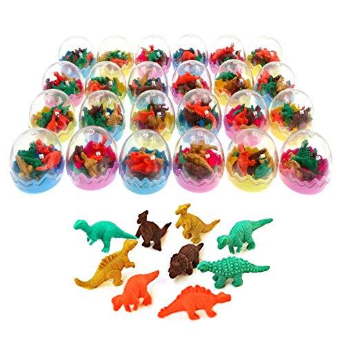 JZK 24x Dinosaurier Ei Spielzeug Dino Radiergummi Radierer, Dinosaurier Spielzeug Gastgeschenk Geschenke für Geburtstag Party Festival Jahr Weihnachten