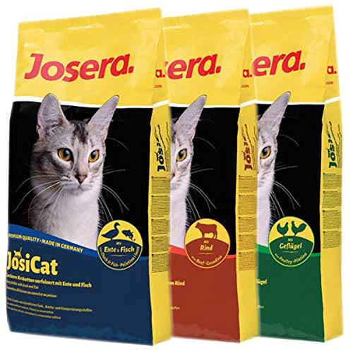 Josera 30 kg JosiCat - je 10 kg JosiCat Ente & Fisch, JosiCat Rind, JosiCat Geflügel