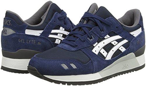 Asics Gel-lyte Iii, Unisex-Erwachsene Sneakers Blau (navy/white 5001)