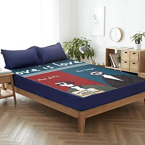 huyiming Verwendet für einteiliges Matratzenset Simmons Schutzhülle rutschfeste Staubschutzhülle Bettdecke 1,5 m 1,8 m Bettdecke 180 cm * 200 cm