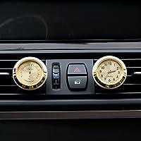 txian 2pcs Mini aire Vent coche reloj y termómetro para coche (38x 38x 17mm)