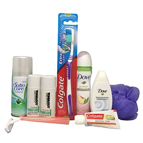 Womens Travel Size Toiletries Set in Snopake Airbag ready for hand luggage on flights