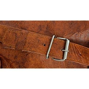 51cKLzg4quL. SS300  - Gusti Cuero nature Archie Bolso de Viaje De Cuero de Cabra Vintage Retro Vacaciones Práctico Excursión R3