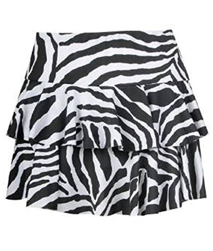 Mini-print-rock (Fashion charming-womens Animal Zebra Leopard Print Mini Rara-Minirock Rock Gr. 40, ZEBRA BLACK WHITE)