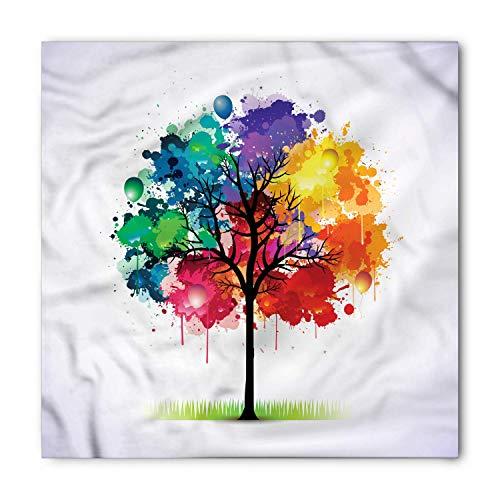 VVIANS Colorful Tree Bandana, Paint Splat Balloons, Unisex Head and Neck Tie M100*100CM -