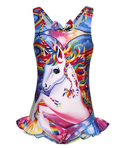 AmzBarley Unicorno Costumi Interi da Ragazze Bambina Costume da Bagno Mare Piscina Nuoto Nuotare Abbigliamento da Spiaggia Carnevale Costume