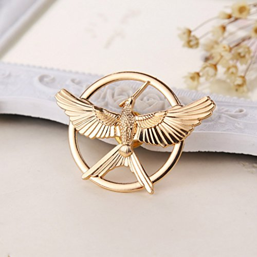 Mockingjay the Hunger Games Anstecker, Pin, Brosche goldfarben ()