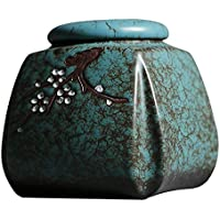 ZYHJAMA Urna de cremación de tamaño Mediano por urna funeraria para Ceniza Humana Urna Viva de tamaño Mediano Pintada a Mano de Colores