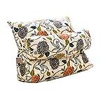 Kissen Bett Kissen zurück Dreieck Kissen, Sofa Büro Bay Fenster Lendenkissen Taillenkissen mit Kopfkissen ( Farbe : H , größe : 50*22*45cm )