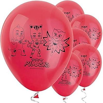 PJ Masks Party Vajilla Kit de Fiesta Infantil de cumpleaños para 8, 16, 24, 32 - Globos y Velas Gratis de PJ MASKS