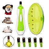 Tagliaunghie Elettrico per Cani Gatti file potente al sicuro le zampe di cura, allestimento, la formazione e l'adeguamento di uno strumento per cani, gatti, conigli, uccelli con 6 levigatura band
