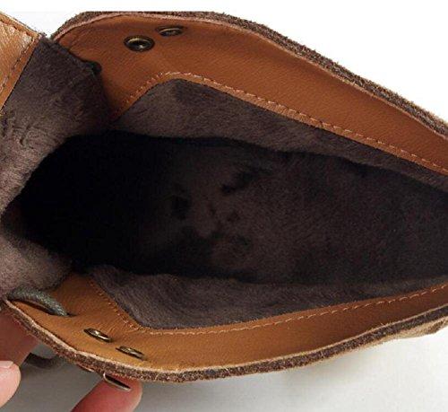 YYH Bottes chaussures quotidien haut talon bottes Chelsea bovins Suede femmes 36