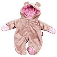 Gotz 3402668 Doll Onesie / Overall Teddy - Size S - Dolls Clothing - Suitable For Baby Dolls Size S (30 - 33 cm)