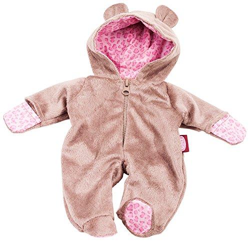 Götz 3402669 Onesie Teddy - Einteiliger Overall Puppenbekleidung Gr. M - 1-teiliges Bekleidungs- und Zubehörset für Babypuppen von 42 - 46 cm