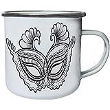 Nueva Máscara De Arte Hermosa Retro, lata, taza del esmalte 10oz/280ml l154e