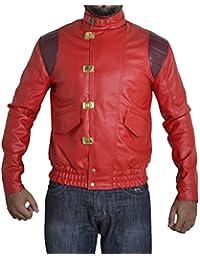 BSKULL Men's akira manga V1 original faux leather jacket sizes XXS-5XL red