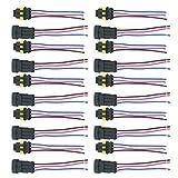 Supmico 10 X 3-Polig Kabel Steckverbinder Stecker Wasserdicht Schnellverbinder Draht KFZ