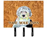 Caroline's Treasures LH9457TH68 Old English Sheepdog Wipe Your Paws Leash or Key Holder, Large, Multicolor