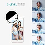 Selfie Light 36 Highlight LED Flash Fill Light Camera Photography Rechargeable Ring Light For iPhone 6s Plus/6s, iPad, Samsung Galaxy S6 Edge/S6, Galaxy Note 5, Blackberry, Sony Xperia, Motorola and All the Smart Phones (Black)