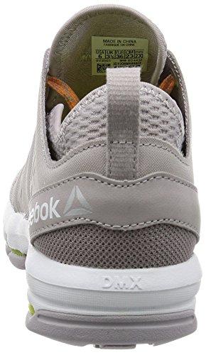 Reebok Cloudride Dmx, Sneaker Basses Femme Gris (Whisper/fire Spark/white)