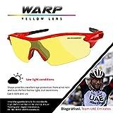 VeloChampion Warp Cycling Sunglasses Running Shooting Sports Glasses - Red Bild 4